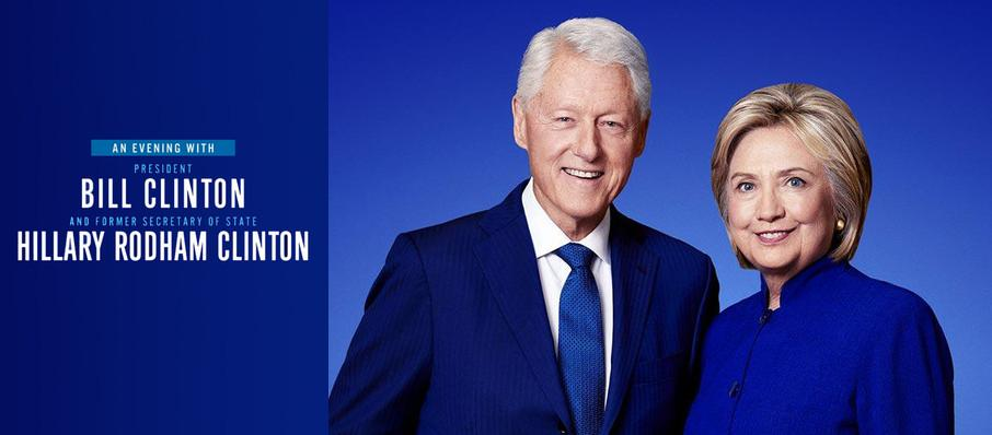 An Evening with Bill and Hillary Clinton at Toyota Oakdale Theatre