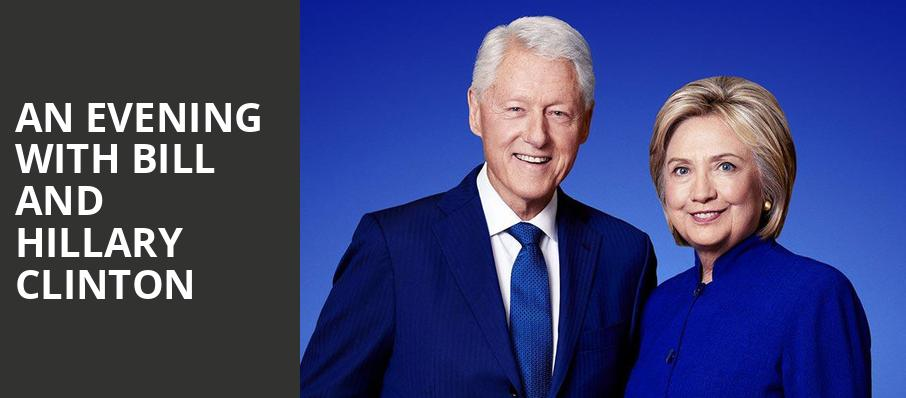 An Evening with Bill and Hillary Clinton, Toyota Oakdale Theatre, Hartford