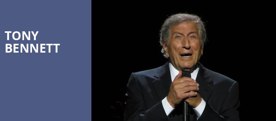 Tony Bennett, Mortensen Hall Bushnell Theatre, Hartford