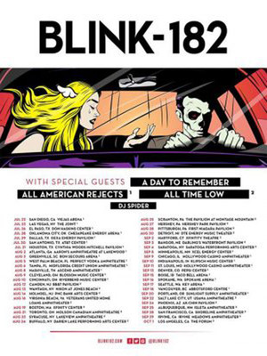 Blink 182 A Day to Remember All Time Low, Xfinity Theatre, Hartford